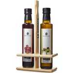 Olive Oil & Vinegar Set (Wooden) - La Chinata (2 x 250 ml)