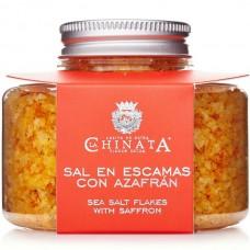 Sea Salt Flakes with Saffron - La Chinata (120 g)