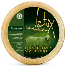Semi-Cured Sheep Cheese 'Ginestal' - Letux