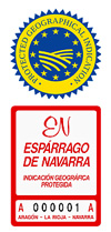 Asparagus from Navarra, Spain (PGI)