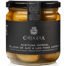 Queen Olives Stuffed with Garlic & Herbs - La Chinata