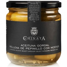 Queen Olives Stuffed with Gherkins and Mustard - La Chinata